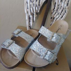 Birkin Style Glitter Sandal